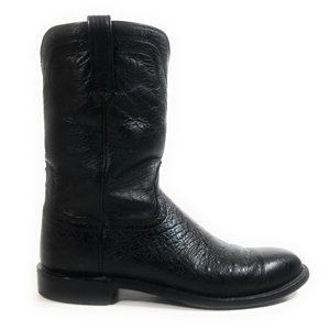 Lucchese Men Smooth Ostrich Western Boots 10.5 B